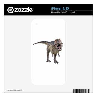 Tyrannosaurus Rex que ruge hacia adelante Skins Para eliPhone 4