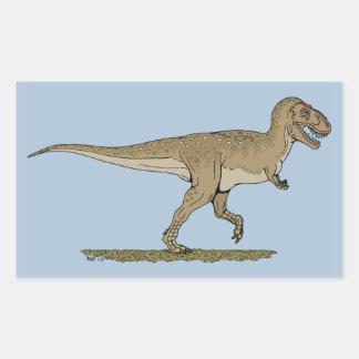 Tyrannosaurus rex rectangular sticker
