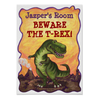 Tyrannosaurus Rex Room Poster