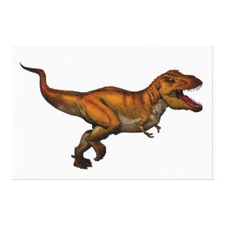 Tyrannosaurus Rex Running T-Rex Canvas Print