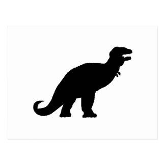 Tyrannosaurus Rex Silhouette Postcards