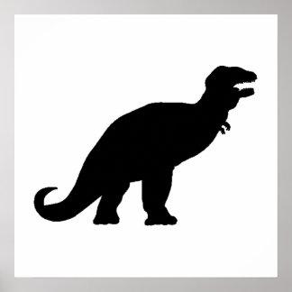 Tyrannosaurus Rex Silhouette Posters