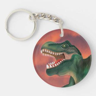Tyrannosaurus rex Single-Sided round acrylic keychain
