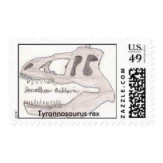 Tyrannosaurus rex stamp