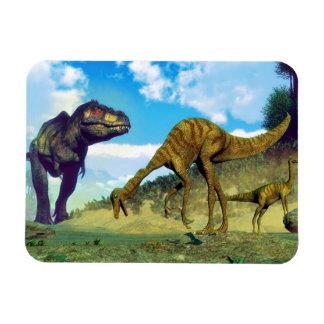 Tyrannosaurus rex surprising gallimimus dinosaurs magnet