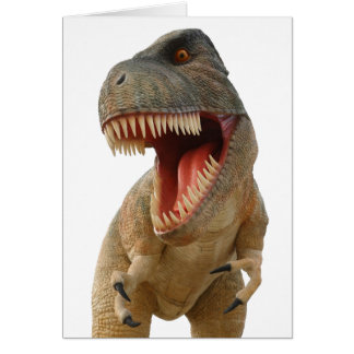 Tyrannosaurus Rex Tarjeta De Felicitación