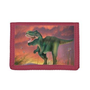 bartonleclaydesign Tyrannosaurus Rex Trifold Wallets