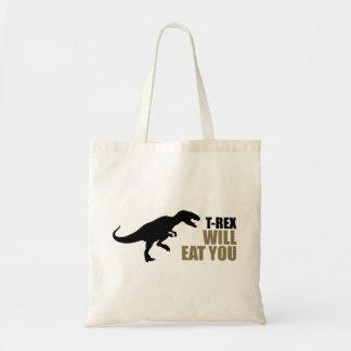 Tyrannosaurus Rex Will Eat You Tote Bag