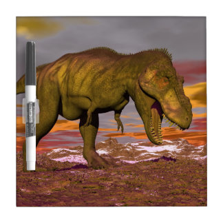 Tyrannosaurus roaring - 3D render Dry-Erase Board