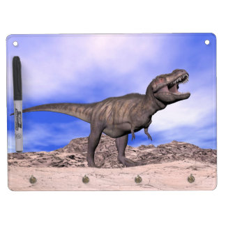 Tyrannosaurus roaring - 3D render Dry Erase Board With Keychain Holder