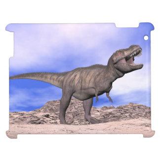 Tyrannosaurus roaring - 3D render iPad Case