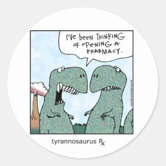 Tyrannosaurus Rx Classic Round Sticker