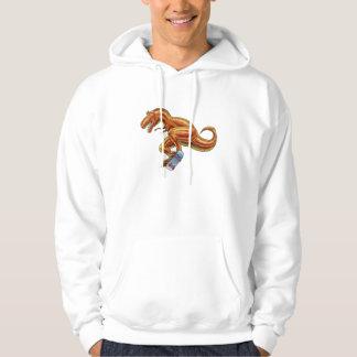 Tyrannosaurus skateboard dinosaur cartoon sweatshirt