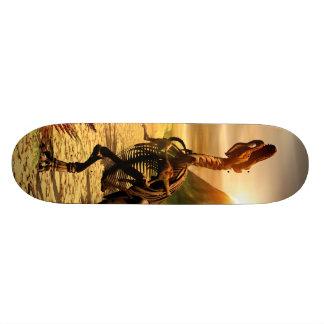Tyrannosaurus skeleton skate board decks