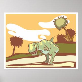 Tyrannosaurus sonriente Rex Póster