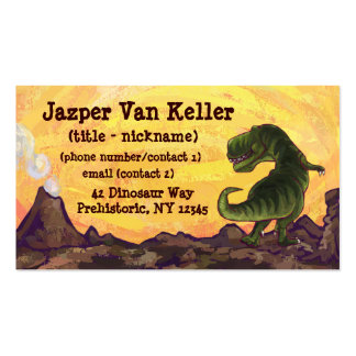 Tyrannosaurus Stationery Double-Sided Standard Business Cards (Pack Of 100)