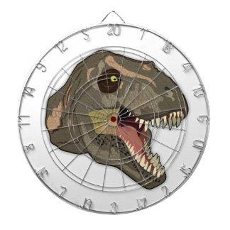 Tyrannosaurus STRIKES Dartboard With Darts