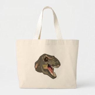 Tyrannosaurus STRIKES Large Tote Bag