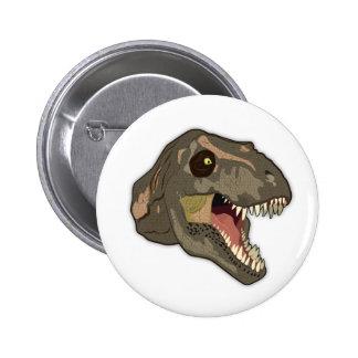 Tyrannosaurus STRIKES Pinback Button