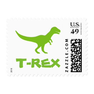 Tyrannosaurus T rex dinosaur postage stamps