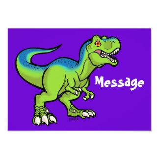 """Tyrannosaurus Toon v2 Invitación 5"""" X 7"""""""