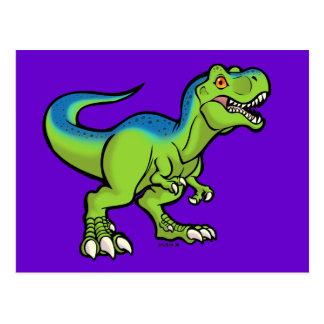 Tyrannosaurus toon v2 postcard