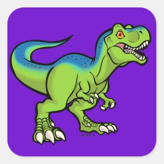 Tyrannosaurus toon v2 square sticker
