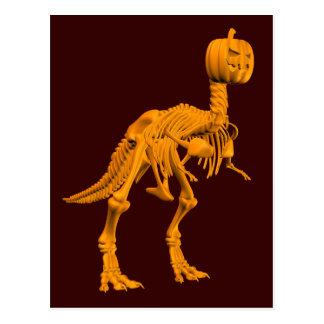 Tyrannosaurus tricktreatus postcard