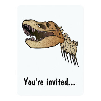 Tyrannous Rex Dinosaur Birthday Party Invitation