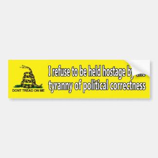 Tyranny of political correctness car bumper sticker