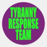 Tyranny Response Team Round Sticker