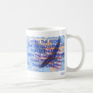 TYRANNY VS. LIBERTY COFFEE MUG