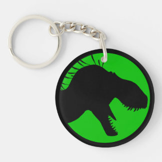 Tyrant King Productions acrylic keychain, green Keychain