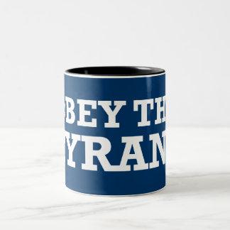 Tyrant Obama anti Obama Two-Tone Coffee Mug
