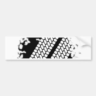 Tyre Tread Grunge Bumper Sticker