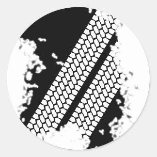 Tyre Tread Grunge Classic Round Sticker