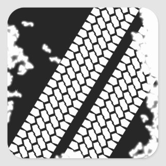 Tyre Tread Grunge Square Sticker