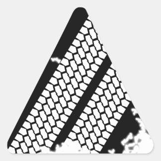 Tyre Tread Grunge Triangle Sticker