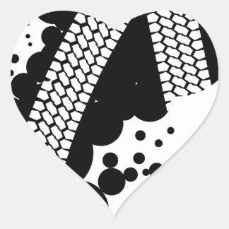 Tyre Tread Heart Sticker