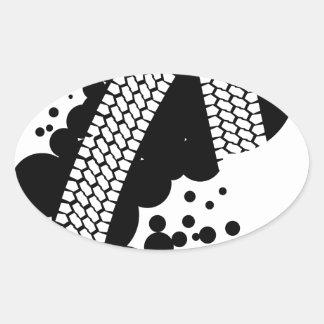 Tyre Tread Oval Sticker