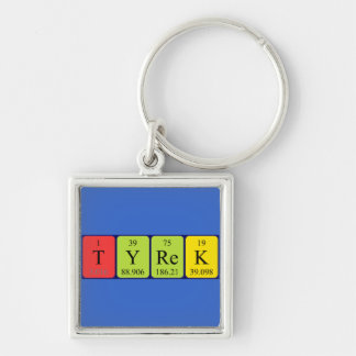 Tyrek periodic table name keyring keychain