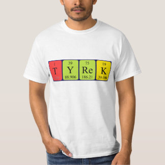 Tyrek periodic table name shirt