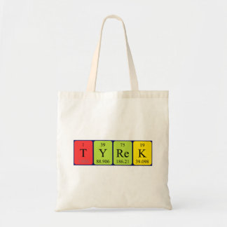 Tyrek periodic table name tote bag
