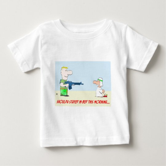 tyrmay iraq war arab bed morning baby T-Shirt