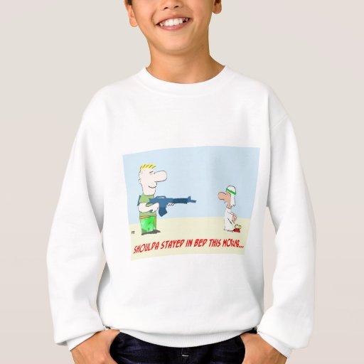 tyrmay iraq war arab bed morning sweatshirt