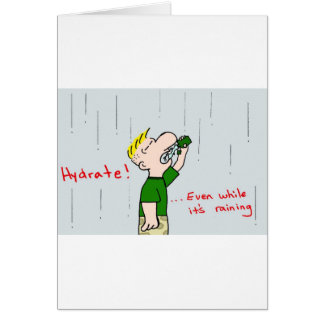 tyrmay marine corps hydrate while raining card