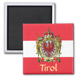Tyrol Coat of Arms 2 Inch Square Magnet
