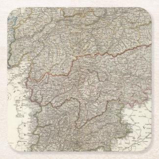 Tyrol, Voralberg, Liechtenstein Square Paper Coaster