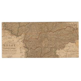Tyrol, Voralberg, Liechtenstein Wood USB Flash Drive