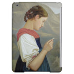 Tyrolean Girl Contemplating a Crucifix, 1865 iPad Air Cover